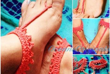 Ocea. 10 minute crochet sandal. Free pattern